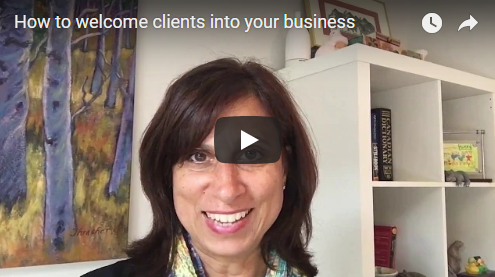How to welcome clients into your business