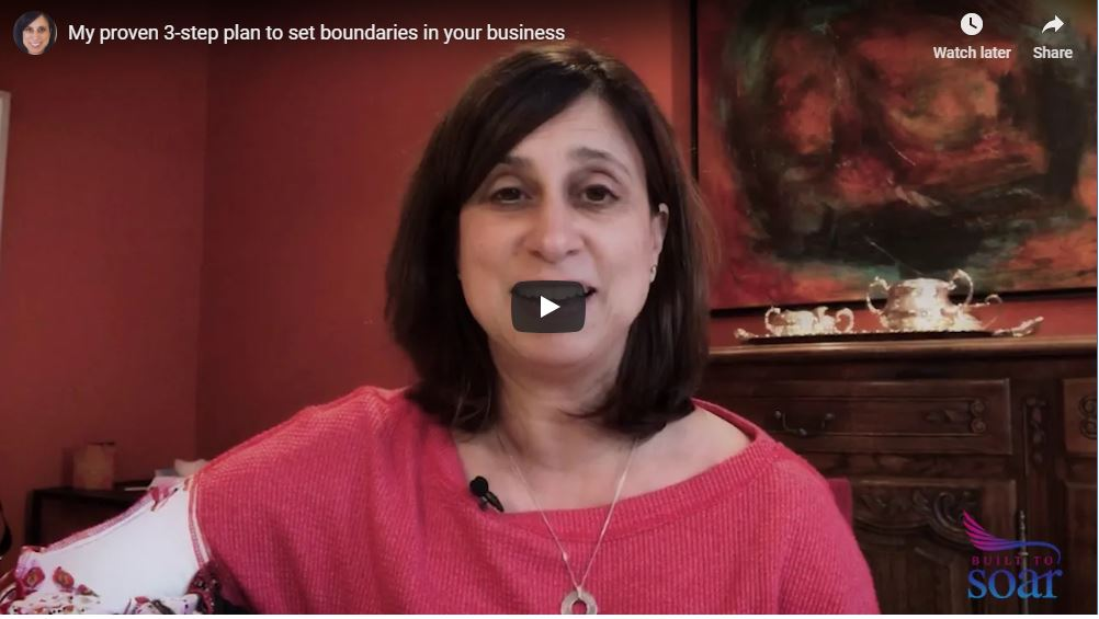 My proven 3-step plan to set boundaries in your business
